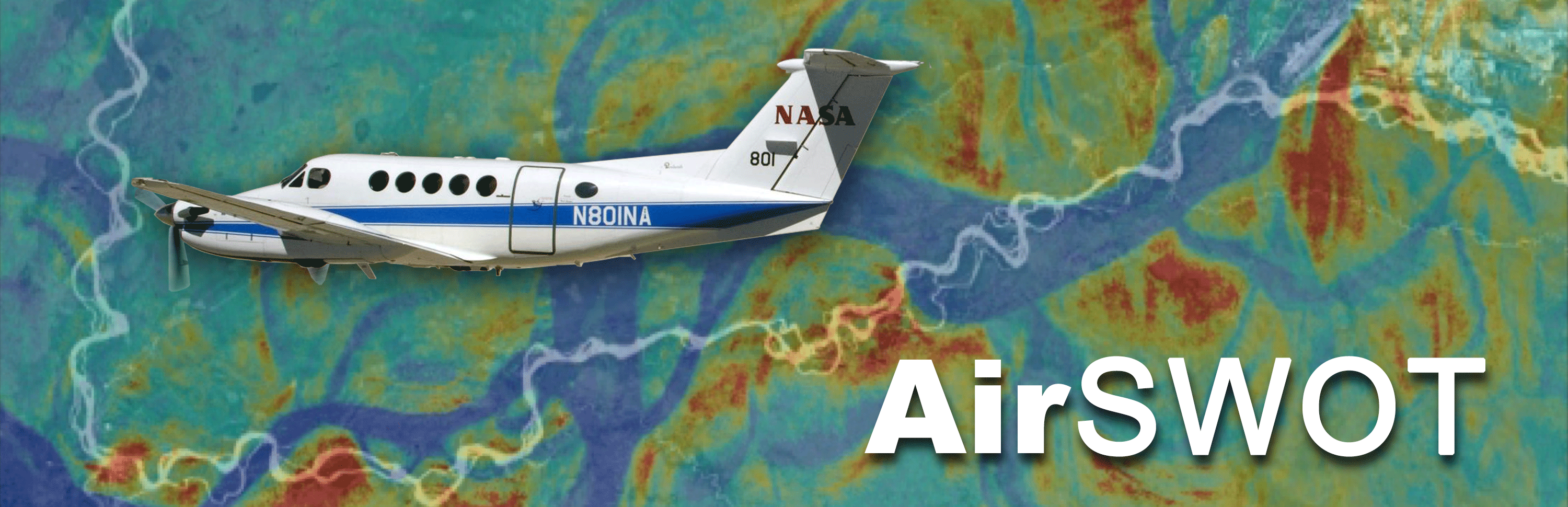 NASA N80INA airplane superimposed on a map