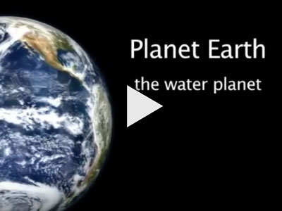 Video cover page showing planet Earth