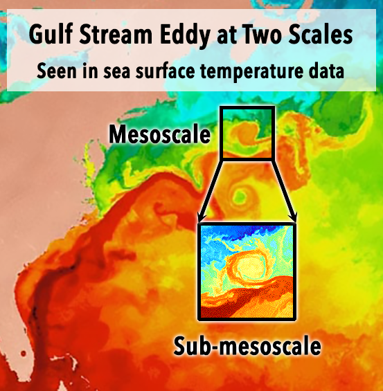 Gulf Stream eddy at two scales