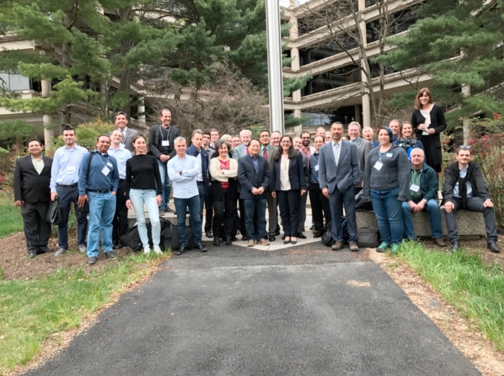 Group picture of participants at the 2nd SWOT Application User Workshop in USGS HQ in Reston, VA, taken on April 5, 2017