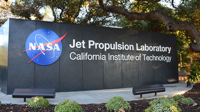 JPL sign at California Institute of Technology