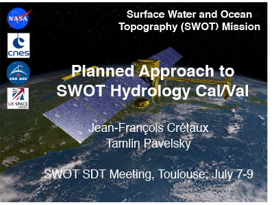Planned Approach to SWOT Hydrology Cal/Val