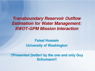 Transboundary Reservoir Outflow Estimation for Water Management: SWOT-GPM Mission Interaction