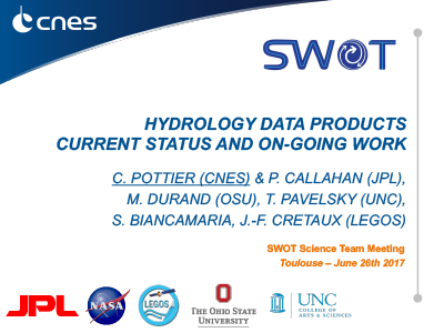 Hydrology Data Products: Current Status and On-Going Work