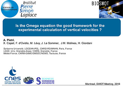Is the Omega Equation the Good Framework for the Experimental Calculation of Vertical Velocities?