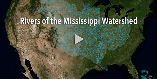 Rivers of the Mississippi watershed