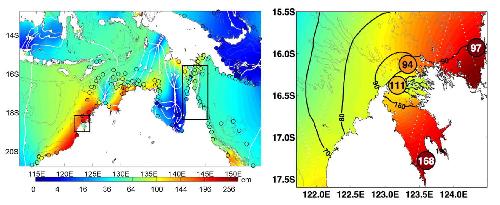 An example of nested high-resolution tide model, for King Sound on the northwest coast of Australia