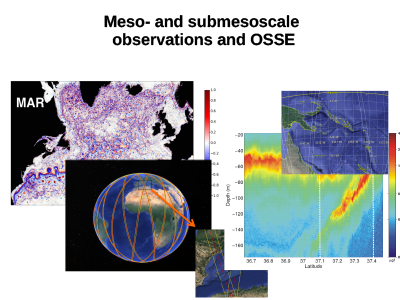 Meso and Submesoscale Observations and OSSE